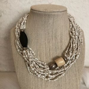 Silpada N1573 Ivory Seed Bead Necklace
